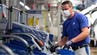 German car worker