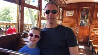 Andrew Barnett and son seb