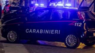 Carabinieri military police arrested the two men on Tuesday night (file pic)
