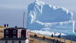 A massive iceberg passes through Newfoundland's 'iceberg alley'
