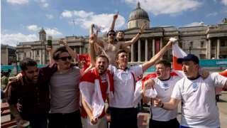 fans celebrating a football result