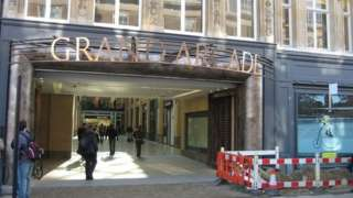 The St Andrews Road entrance of the Grand Arcade shopping centre