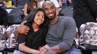 Kobe Bryant hugging his daughter Gianna