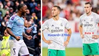 Raheem Sterling, Eden Hazard ati Gareth Bale
