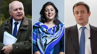 Iain Duncan Smith, Nusrat Ghani and Tom Tugendhat
