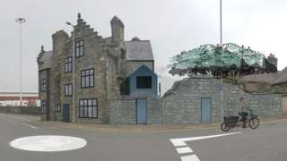 Artist impression of a renovated Plas Alltran in Holyhead