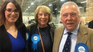 Fay Jones, Linda Jones and Gwilym Jones