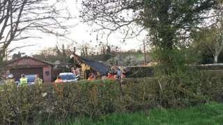 Peckleton bungalow damage
