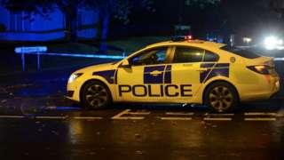Police at the scene on Bunbury Road