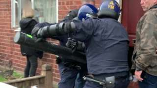 Police enter house