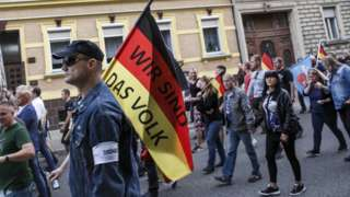 AfD and other nationalists marching in Köthen, 16 Sep 18