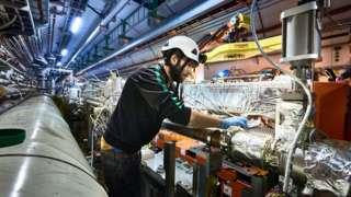 Engineers work on HiLumi