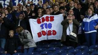 Blackburn fans protest at Ewood Park