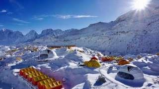 Everest base camp this climbing season