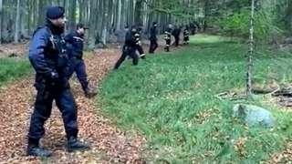 Czech police search