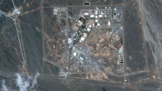 Satellite image showing Iran's Natanz uranium enrichment facility (5 April 2021)