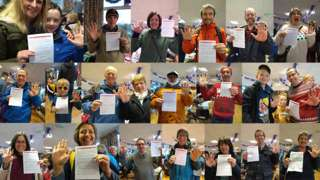 Villagers who have made the pledge