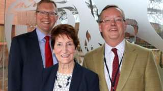 Peter Jackson, Nick Forbes and Norma Redfearn