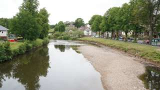 The river in Appleby empty
