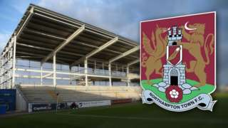 Sixfields Stadium and Northampton Town FC crest