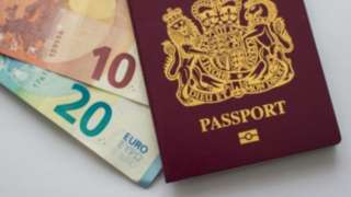 Passport and euros