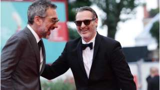 Todd Phillips and Joaquin Phoenix at the Venice Film Festival, 7 September 2019