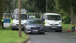 Police vehicles in Dane Park Road, Hull