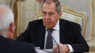 Russian Foreign Minister Sergei Lavrov meeting EU's Josep Borrell in Moscow, 5 Feb 21