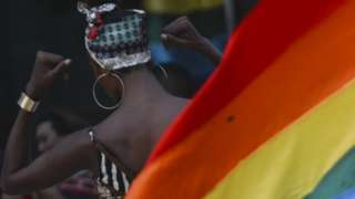 People take part in the Rainbow Pride Party - Colombo Pride 2019, in Colombo, Sri Lanka, on June 23, 2019