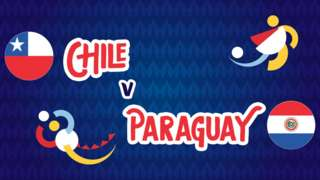Chile v Paraguay badge graphic