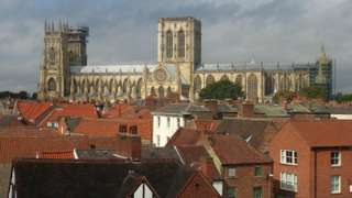 Rooftop view of York Minster