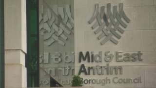 Mid and East Antrim Borough Council sign