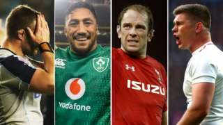 Allan Dell, Bundee Aki, Alun Wyn Jones and Owen Farrell