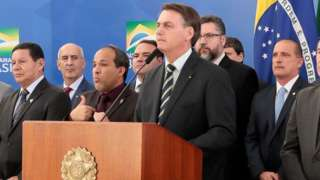 Bolsonaro em pronunciamento