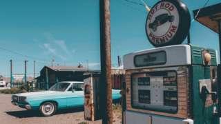 古董級的加油站