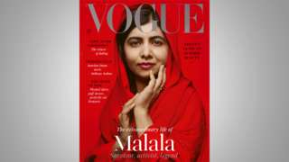 Malala on the cover of the July issue of British Vogue