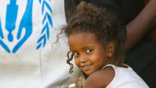 Ethiopian child is seen at Um Rakuba refugee camp as they continue to live under harsh conditions in eastern Al -Qadarif State,
