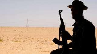Libya Ulusal Mutabakat Hükümeti'ne bağlı bir asker Sirte'de.