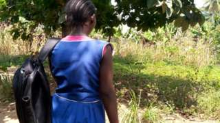 Back of Fatu, the 13 year old girl who is pregnant after suffering sexual abuse