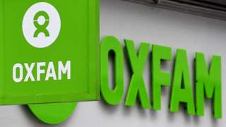 Sign over an Oxfam shop