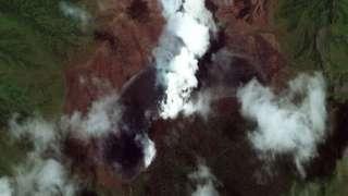 Вулкан, вид из космоса