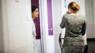 New mum leaves hospital