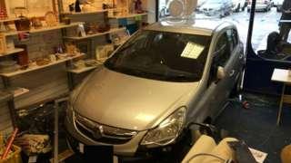 Dorchester charity shop crash