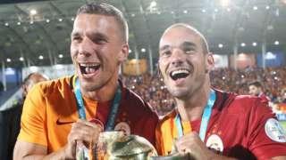 Lukas Podolski and Wesley Sneijder