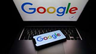 Google logo displayed on phone and laptop screens are seen in this illustration photo taken on October 18, 2020