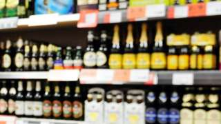 Alcohol in supermarket