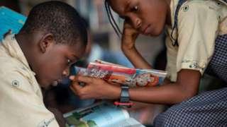 Children dey study for school Nigeria