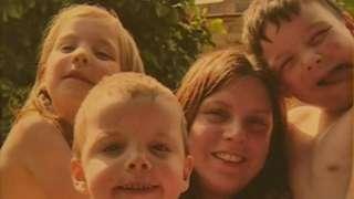 Gemma Fenton with children Mikey,
