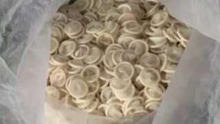 Condoms in Vietnamese warehouse