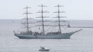 Dar Młodziezy at sea